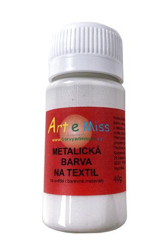 GBA METAL M11 METALICKÁ BARVA NA TEXTIL BÍLÁ