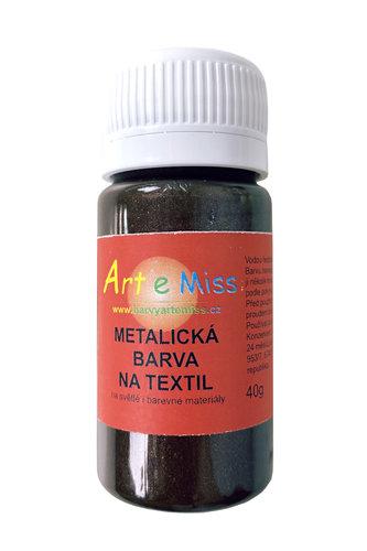 GBA METAL M14 METALICKÁ BARVA NA TEXTIL ČERNÁ