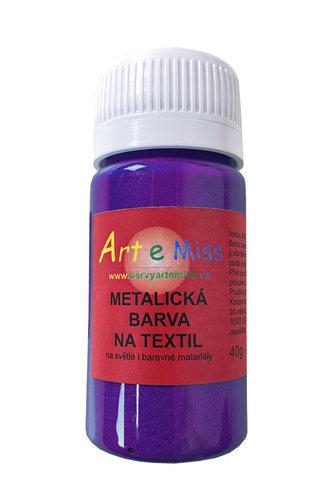 GBA METAL M42 METALICKÁ BARVA NA TEXTIL TM. FIALOVÁ