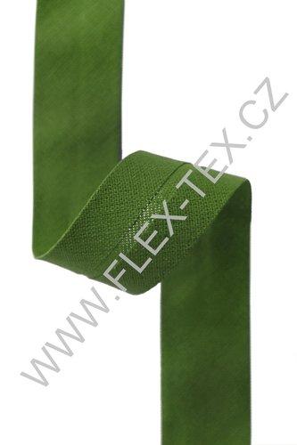 GSS z 57 BAVLNĚNÁ LEMOVKA 1,8cm zelená