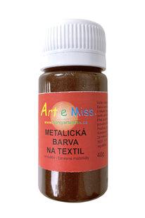 GBA METAL M24 METALICKÁ BARVA NA TEXTIL HNĚDÁ