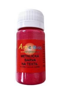 GBA METAL M53 METALICKÁ BARVA NA TEXTIL TM. ČERVENÁ