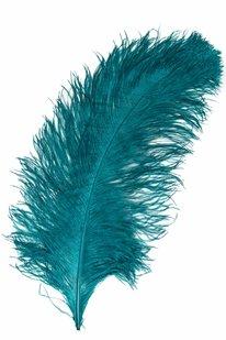 GOP 48 PŠTROSÍ PEŘÍ modro-zelené