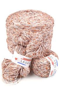 GRR 064 Pletací příze Panoramix oranžovo-bílá 100g