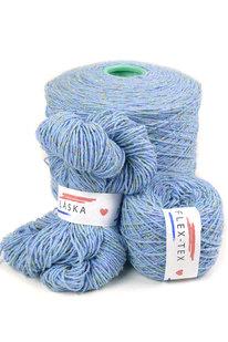 GRR 089 Pletací příze Obelix 1800 modrá 100g