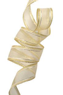 GSS d 09 STUHA DEKORAČNÍ zlatá š 4 cm