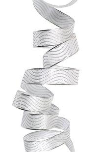 GSS d 14 STUHA DEKORAČNÍ stříbrná š 2.5 cm