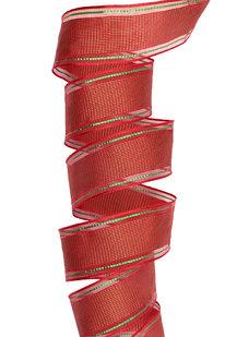 GSS d 33 STUHA DEKORAČNÍ červeno-zelená š 4 cm