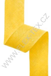 GSS z 098 BAVLNĚNÁ LEMOVKA 2,5cm žlutá