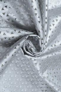 IDE 1237 Koženka s perforací stříbrná metalická