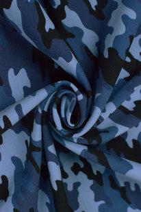 MAX 1673 FRENCH TERRY OEKO-TEX  kamufláž modrá
