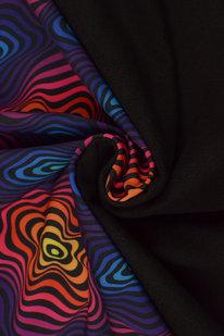 MAX S 037 Dvouvrstvý softshell barevné vlnění